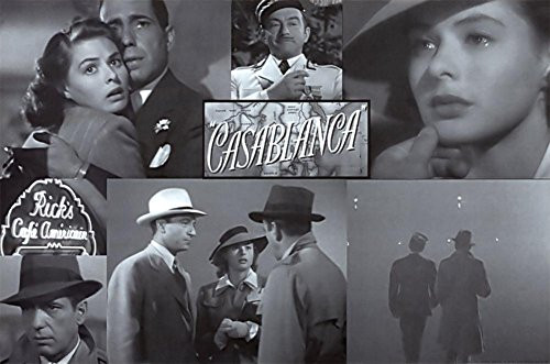 Casablanca Poster Collage Old Movie Art Poster Print 36x24