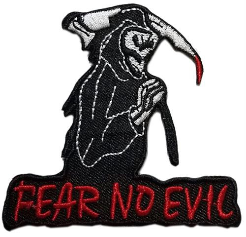 "Fear No Evil Embroidered Sew On Patch - 3"" X 2.82"" Image"