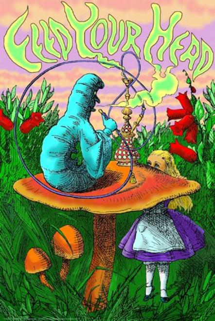 Caterpillar Hookah Poster 24x36