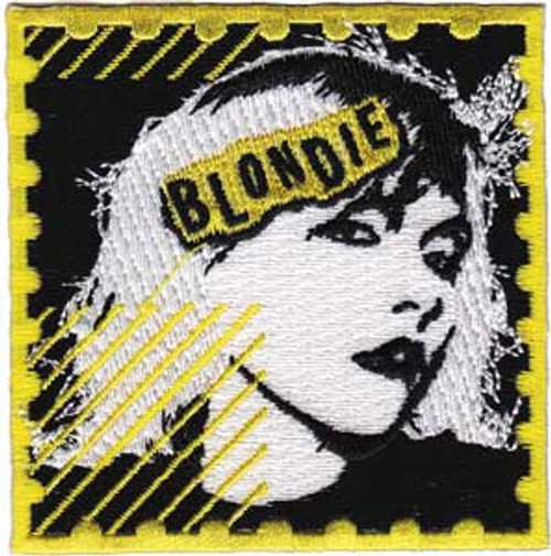 """Blondie Stamp - Iron On Embroidered Patch 3"""" x 3"""" Image"""