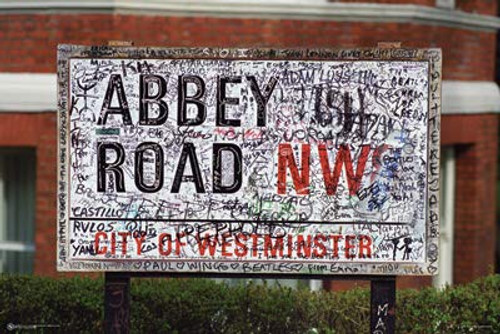 """Beatles Abbey Road NW8 Studio City of Westminster Poster 24"""" X 36"""""""