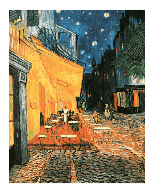 Cafe at Night Mini Poster by Vincent van Gogh Image