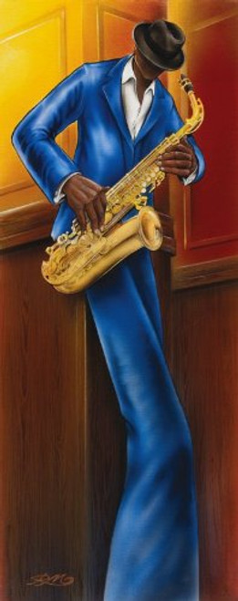 The Saxophone Player by Magrini Slim Poster Print Image