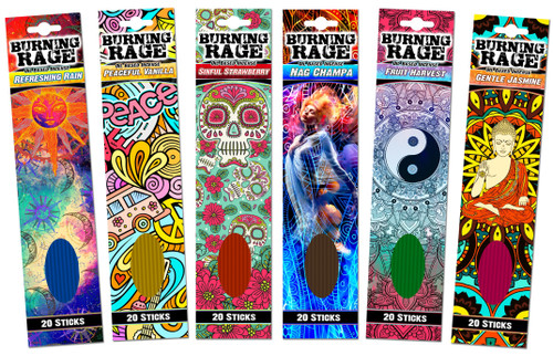 Burning Rage Incense 20 Stick Pack Image