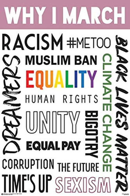 Why I March Political Protest Equality Poster Image