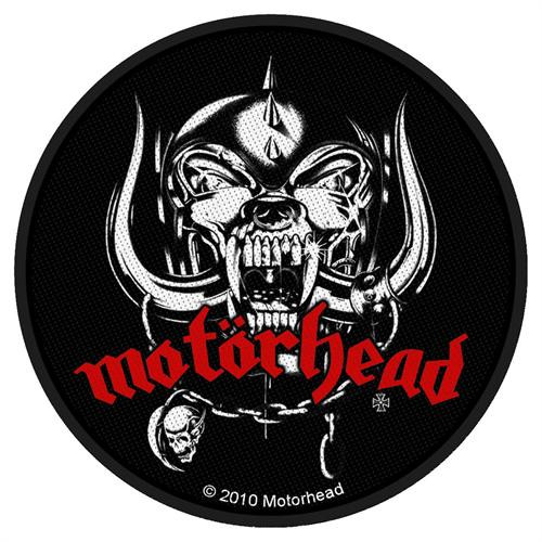 "Motorhead Warpig - Woven Sew On Patch 3.75"" Round Image"
