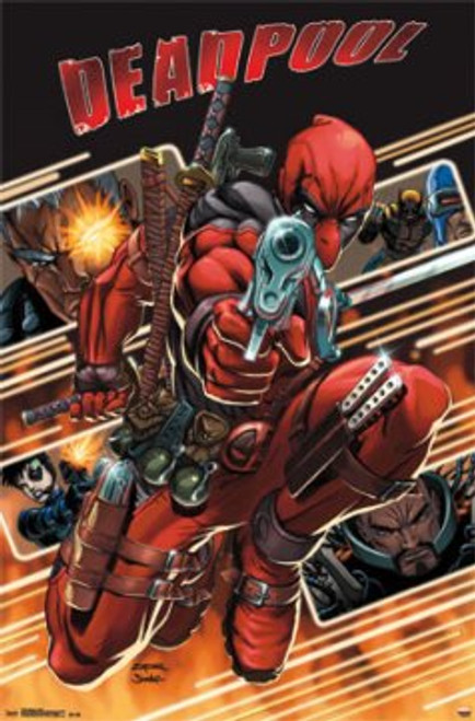 """Deadpool - Attack Poster 22.375"""" x 24"""" Image"""