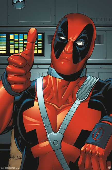 """Deadpool - Thumbs Up Poster 22.375"""" x 24"""" Image"""