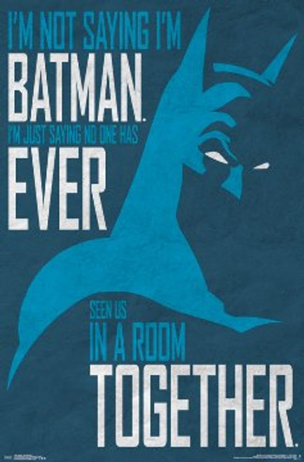 "Batman - Secret Identity Poster 22.375"" x 24"" Image"