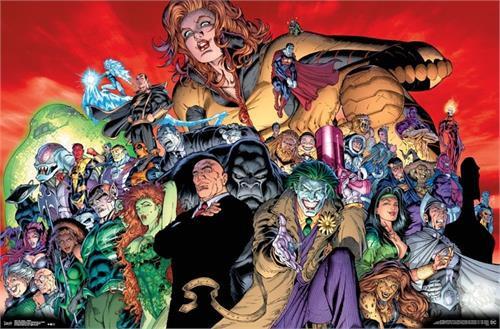 "DC Comics - Villains Poster 22.375"" x 24"" Image"
