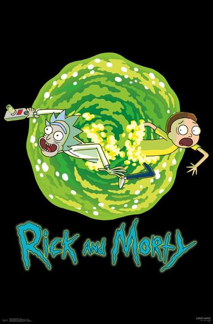 "Rick and Morty - Portal Poster 22.375"" x 24"" Image"