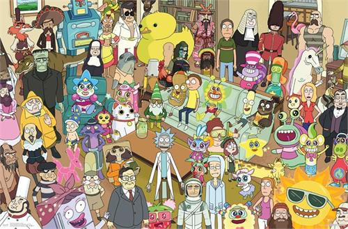 """Rick and Morty - Group Poster 22.375"""" x 24"""" Image"""