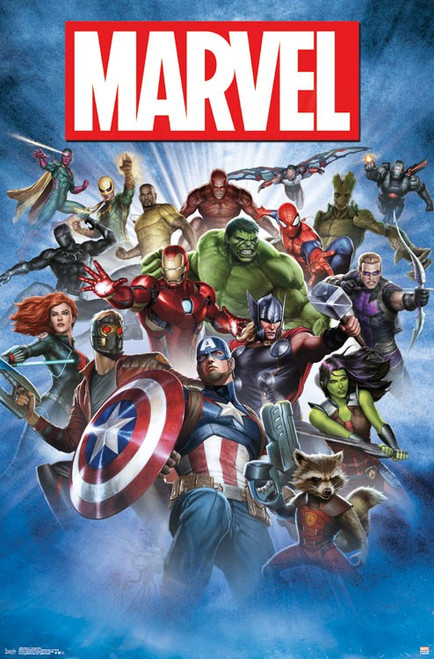 "Marvel - Group Shot Poster 22.375"" x 24"" Image"
