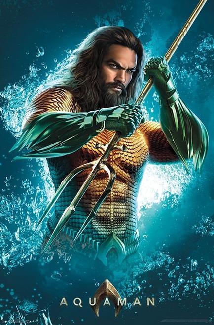 "Aquaman - Trident Poster 22.375"" x 24"" Image"
