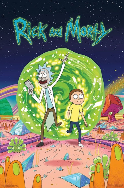 """Rick and Morty - Cover Poster 22.375"""" x 24"""" Image"""