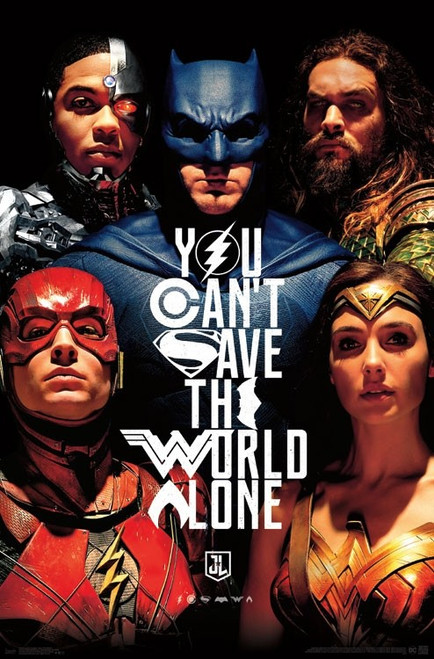 "Justice League - Save The World Poster 22.375"" x 24"" Image"