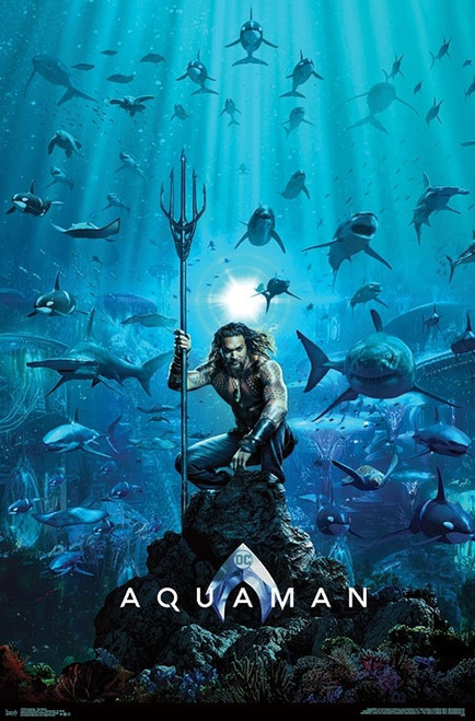 "Aquaman - One Sheet Poster 22.375"" x 24"" Image"