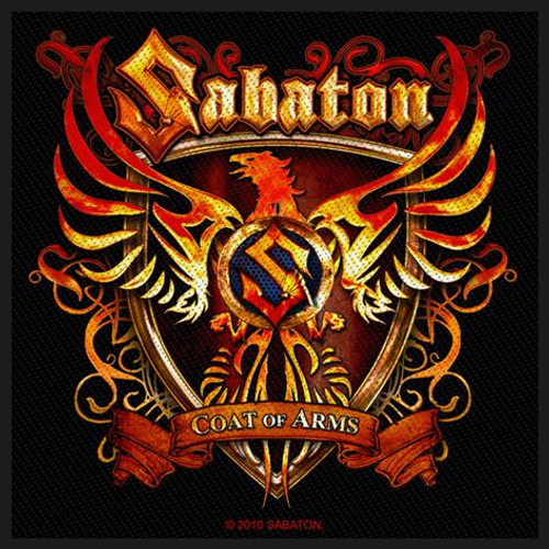 """Sabaton Coat Of Arms- Woven Sew On Patch 3.75"""" x 3.75"""" Image"""