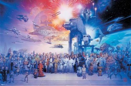 "Star Wars Galaxy Poster 22.375"" x 24"" Image"