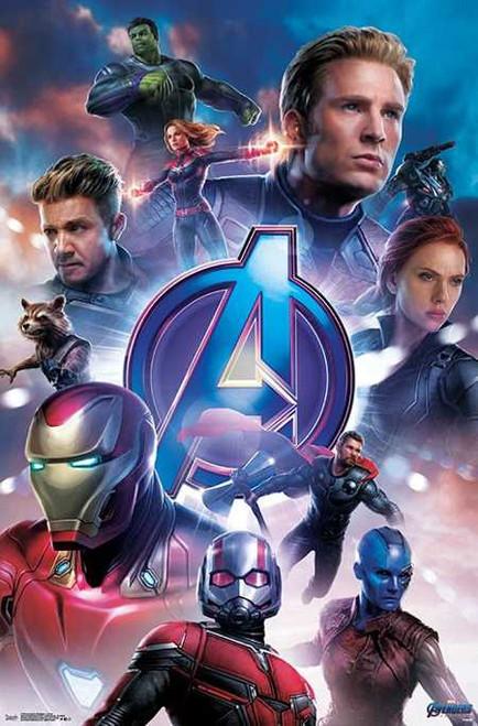 "Avengers: Endgame - Group Poster 22.375"" x 24"" Image"