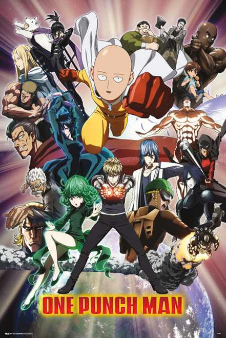 """One Punch Man – Group Shot Poster 24"""" x 36"""" Image"""