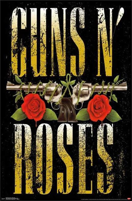 """Guns N' Roses - Stacked Logo Poster - 22.375""""' x 34""""' Image"""