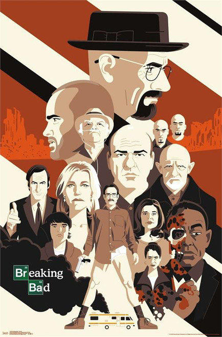 "Breaking Bad - Group Poster - 22.375""' x 34""' Image"