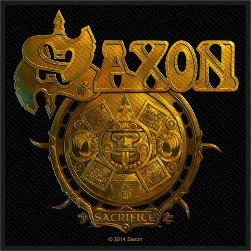 "Saxon Sacrifice - Woven Sew On Patch 4"" x 4"" Image"
