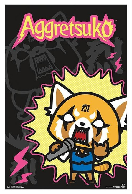 "Aggretsuko - Rock Out Poster - 22.375""' x 34""' Image"