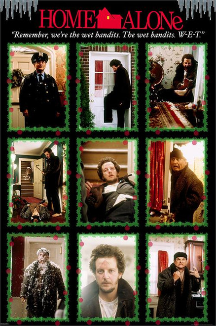 """Home Alone – Wet Bandits Poster 24"""" x 36"""" Image"""
