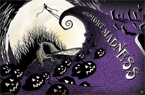 "Disney Tim Burton's The Nightmare - Midnight Madness Poster - 22.375""' x 34""' Image"
