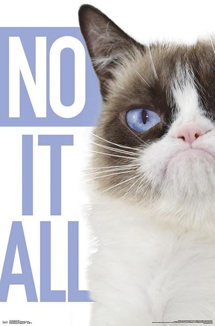 "Grumpy Cat - Blue Poster - 22.375""' x 34""' Image"