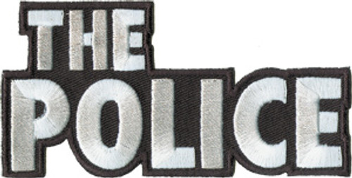 """The Police - Iron On Embroidered Patch 4"""" x 2"""" Image"""