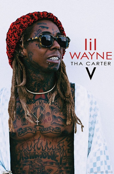 "Lil Wayne - Carter V Wall Poster 22.375""' x 34""' Image"