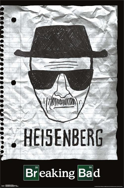 "Breaking Bad - Heisenberg Poster - 22.375""' x 34""' Image"