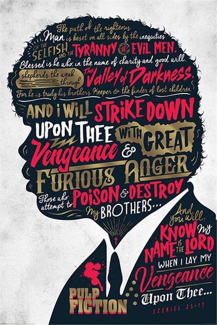 """Pulp Fiction Ezequiel Poster 24"""" x 36"""" Image"""