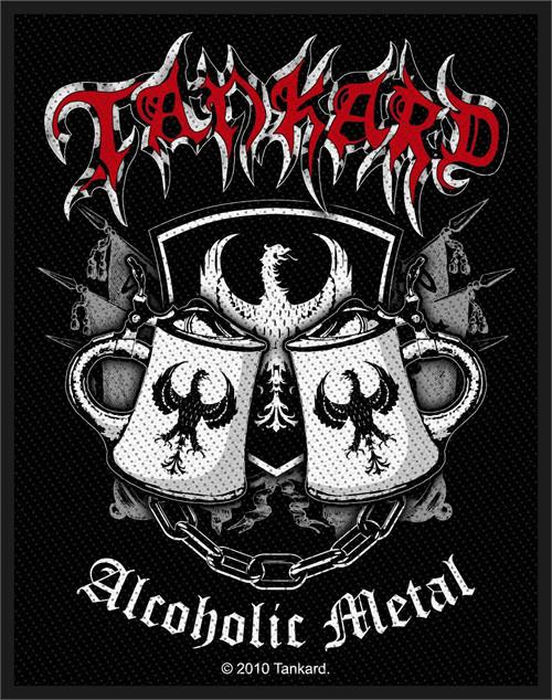 """Tankard Alcoholic Metal - Woven Sew On Patch 2.75"""" x 4"""" Image"""