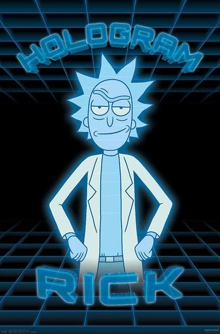 "Rick And Morty - Hologram Rick Poster - 22.375""' x 34""' Image"