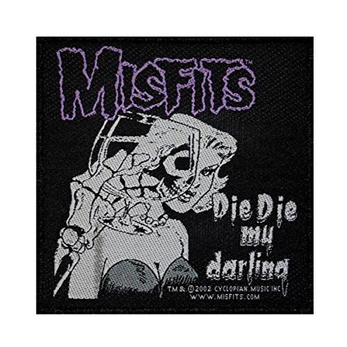 """Misfits Die Die My Darling - Woven Sew On Patch 4"""" x 4"""" Image"""