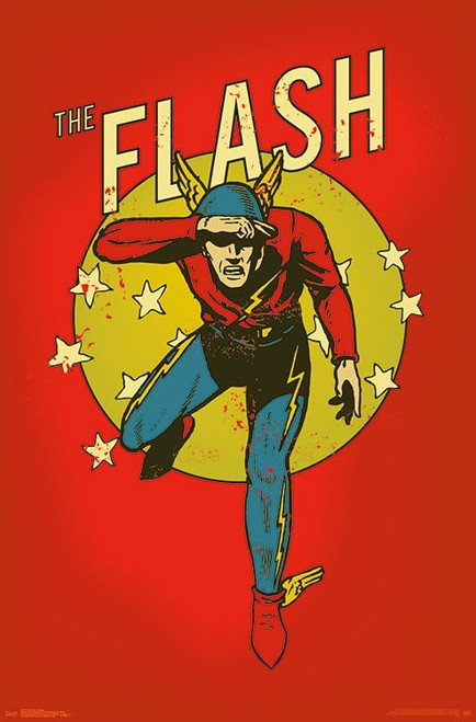 """The Flash - Vintage Poster - 22.375""""' x 34""""' Image"""