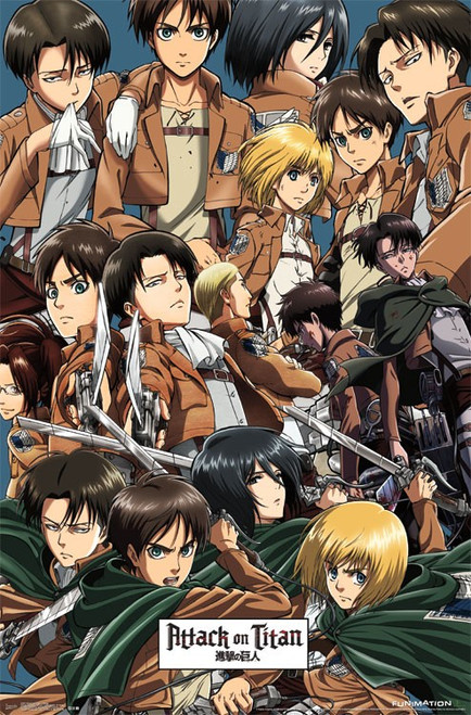 "Attack on Titan - Collage Poster - 22.375""' x 34""' Image"