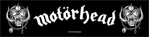 "Motorhead War Pigs - Woven Sew On Patch 8"" x 2.25"" Image"