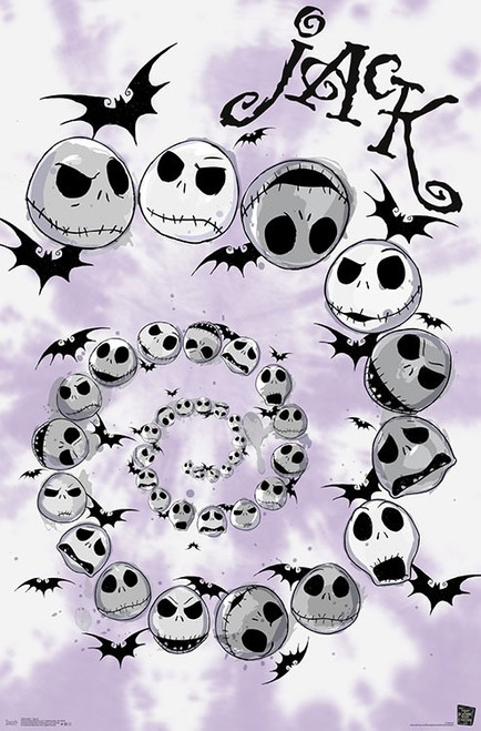 "Disney Tim Burton's The Nightmare Before Christmas - Spiral Poster - 22.375""' x 34""' Image"