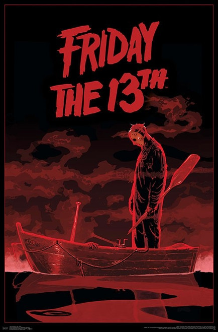 """Friday The 13th - Boat Poster - 22.375""""' x 34""""' Image"""