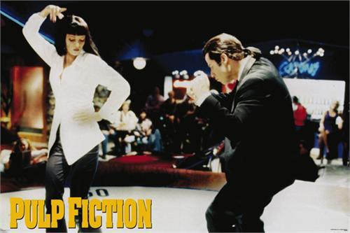 """Pulp Fiction - Dance Poster - 36' X 24"""" Image"""