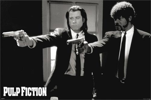 "Pulp Fiction - Duo Guns Poster - 36' X 24"" Image"