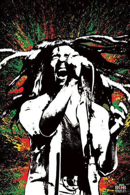 "Bob Marley - Splash Poster 24"" x 36"" Image"