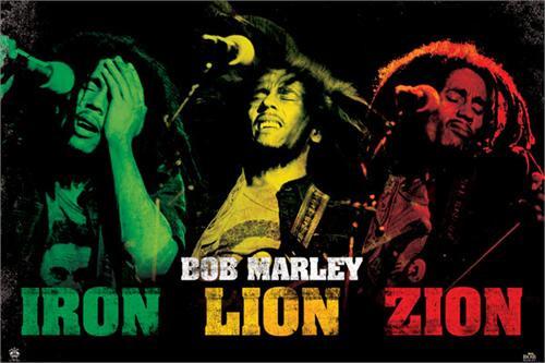"Bob Marley - Iron, Lion, Zion Poster 24"" x 36"" Image"