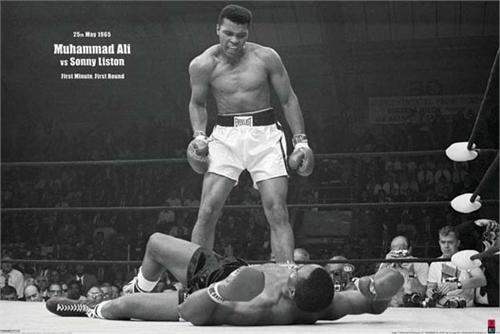 "Muhammad Ali Vs Liston Poster 24"" x 36"" Image"