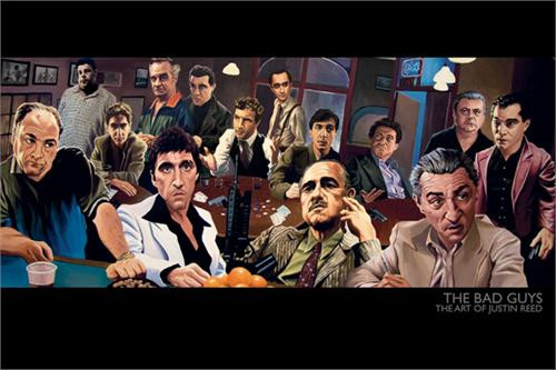 """The Bad Guys By Justin Reed Poster 24"""" x 36"""" Image"""